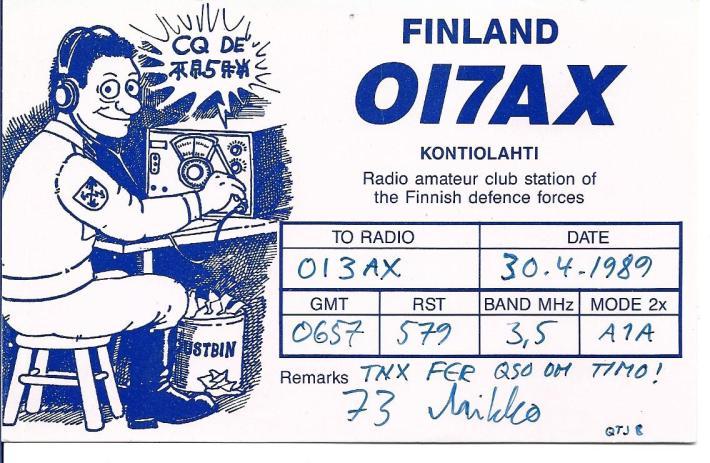 Nykyistä sotilasradioamatööritoimintaa yli 40 vuotta Suomessa