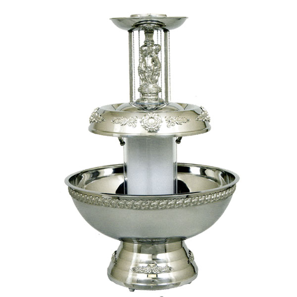 Silver ornate lighted base foundation