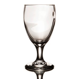 Glassware- Teardrop water glass