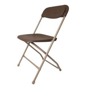 Basic brown folding chair