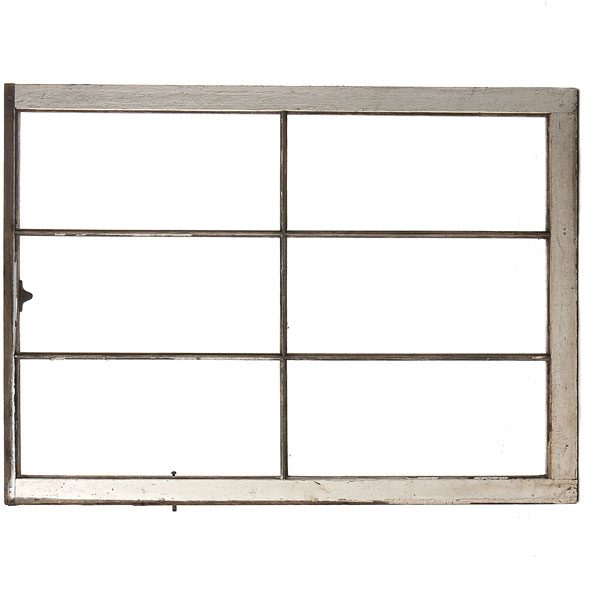 Rustic window frame no glass