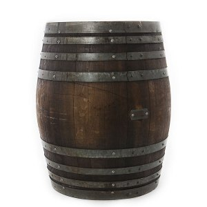 Dark wine barrel