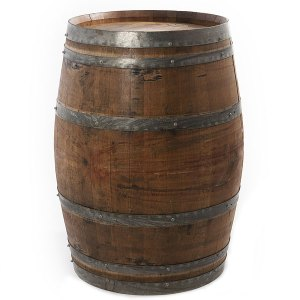 Wine Barrels available in light and dark wood.