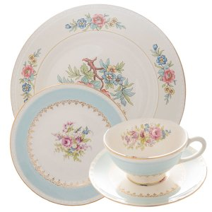 Mix and match vintage china place settings