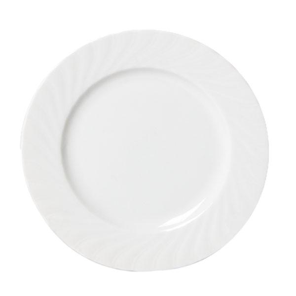 White Regina China Entree Plate