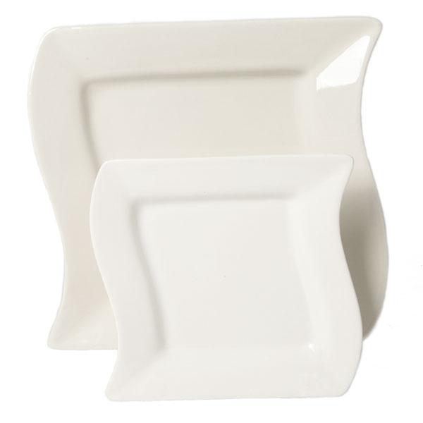 White wavy square china