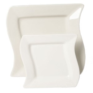 White wavy square china