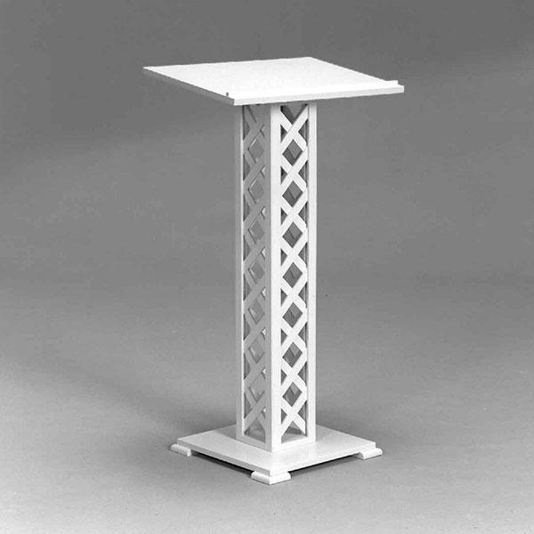 Lattice guest book stand