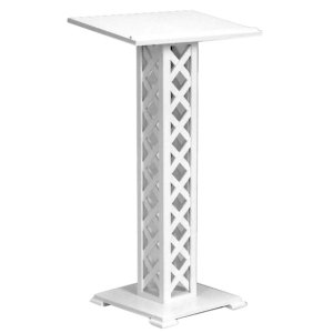 Guest book stand or lecture in white wood lattice