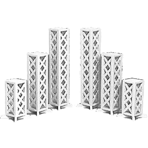 columns and lattice stands