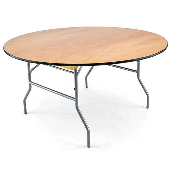 60 inch round plywood folding banquet table
