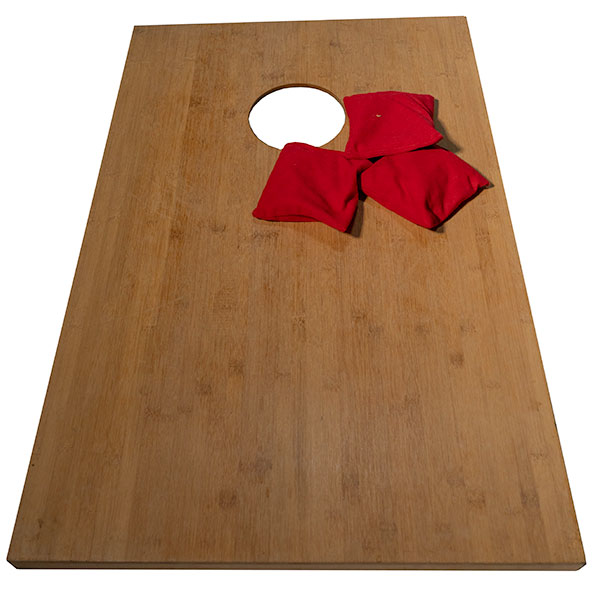 Bamboo Corn Hole Game - Bean Bag Toss