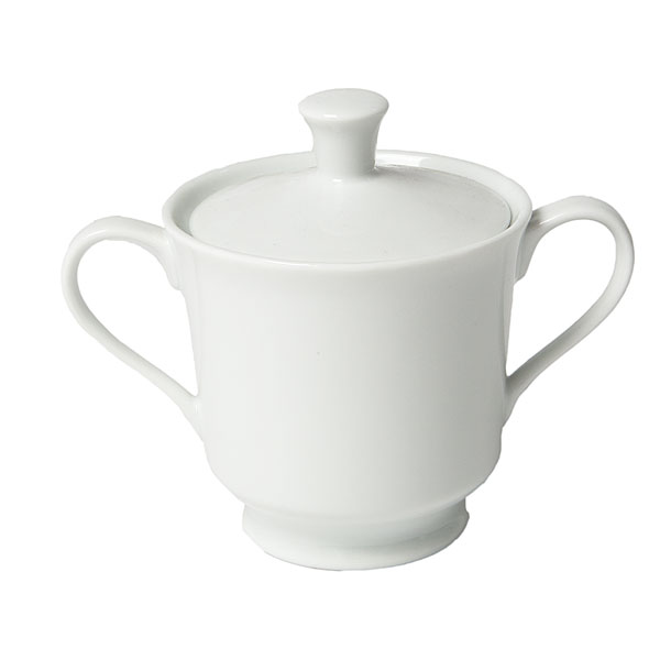 white china sugar bowl