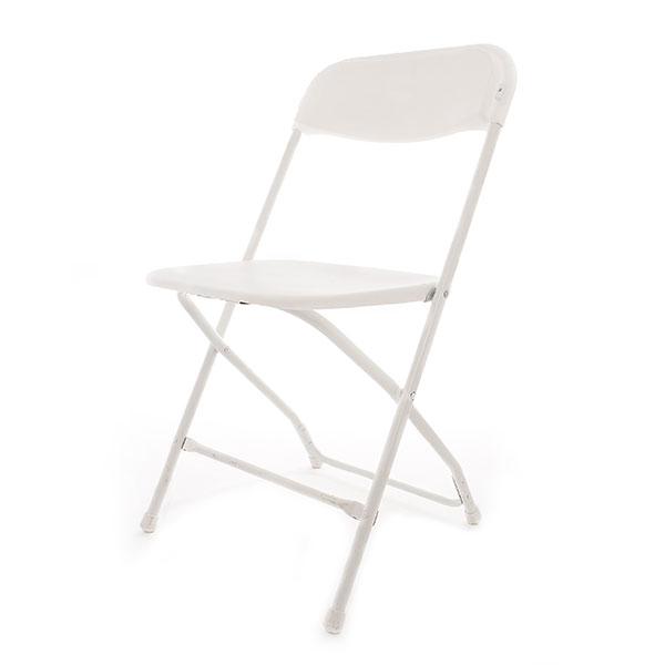 Basic white folding chair
