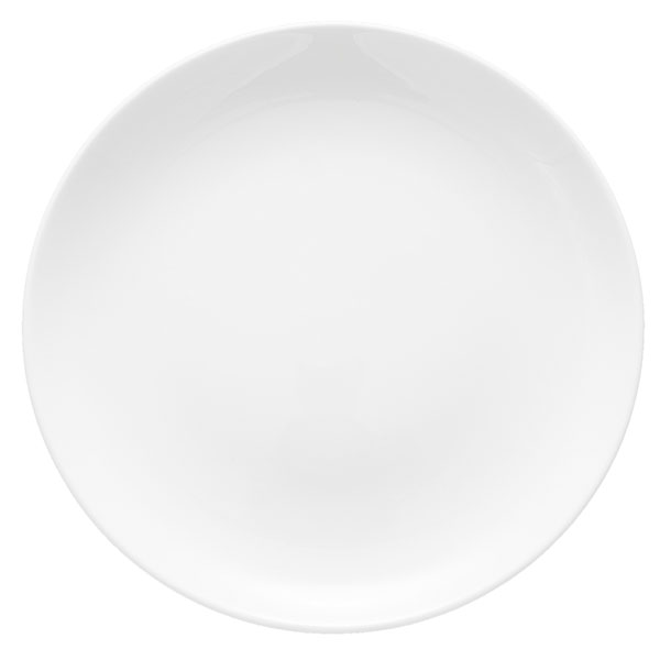 White Coupe rimless entree plate