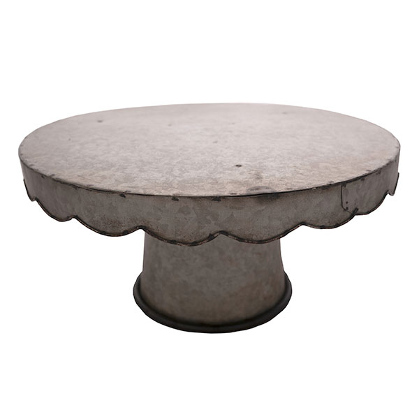 galvanized metal cake stand
