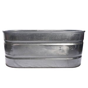 Metal horse trough- sideview