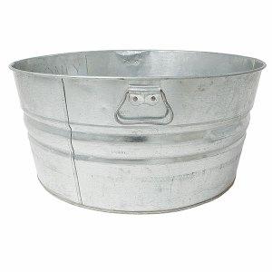 Round galvanized wash tub