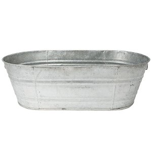 Galvanized oval wash tub