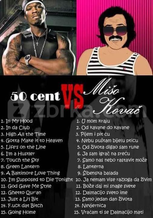 50 cent vs Mate Mišo Kovač
