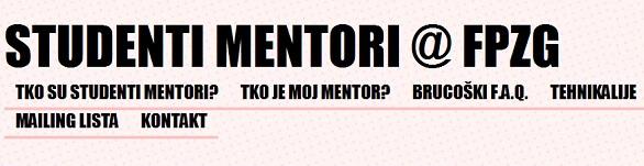 FPZG: Svaki brucoš dobiva svog mentora