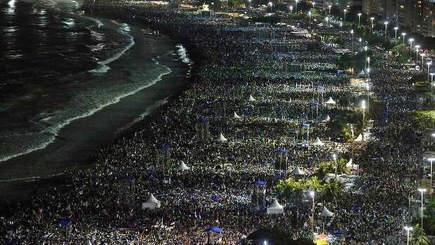 Tri milijuna vjernika na Copacabani u povodu Svjetskog dana mladih