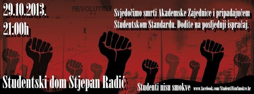 Studenti će uz svijeće i lampione pokopati svoj 'preminuli standard'