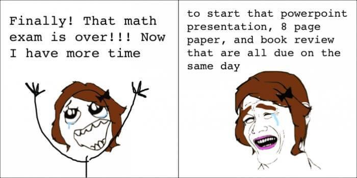 Nakon što završi ispit iz matematike