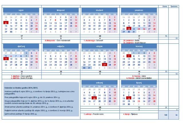 Provjerite na koje dane padaju praznici u novoj školskoj godini