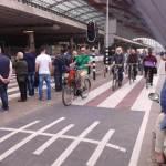 Gust promet na biciklističkoj stazi