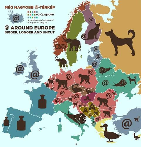 Znak @ nije u svakoj zemlji 'monkey': Smiješni nazivi po zemljama