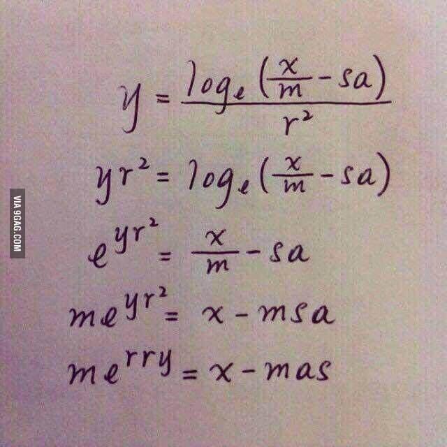 Čudna čestitka za Božić profesora matematike