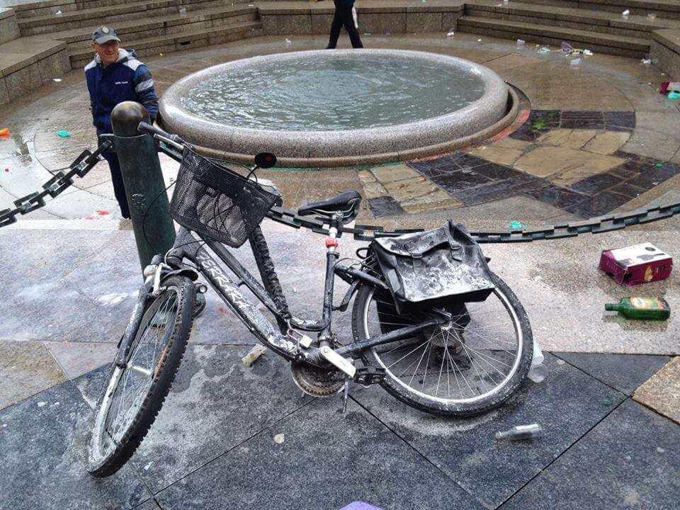 Ovo je definitivno najlošije mjesto za parkirati bicikl za norijadu