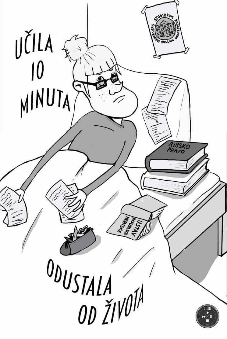LIGO: Ilustracijama na zabavan način prikazuju studentsku svakodnevicu