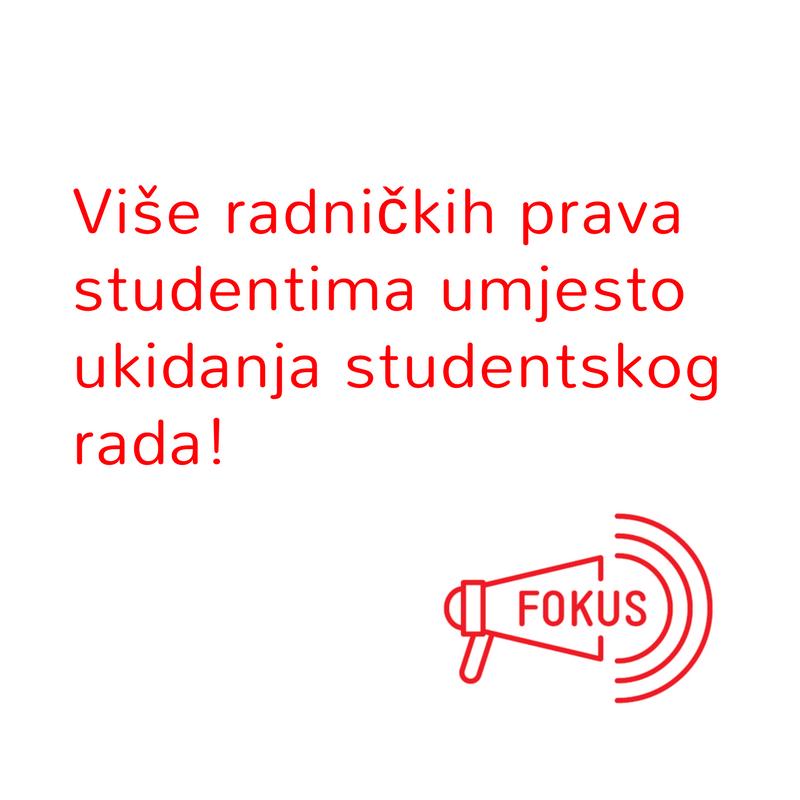 Bivši ministar rada uključio se u raspravu oko studentskog rada sa 12 prijedloga Vladi