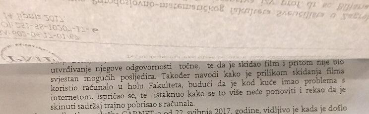 Student zagrebačkog PMF-a skinuo film na fakultetskom računalu pa ulovljen i kažnjen zbog toga