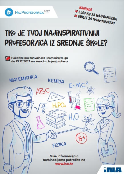 INA otvorila natječaj: Prijavite svog najprofesora ili najprofesoricu i osvojite tablet