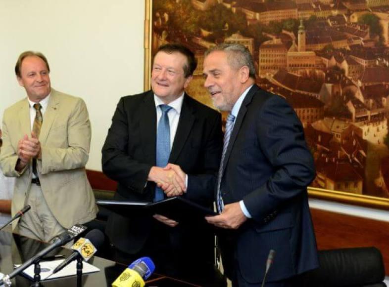 Gradonačelnik Milan Bandić i rektor Damir Boras