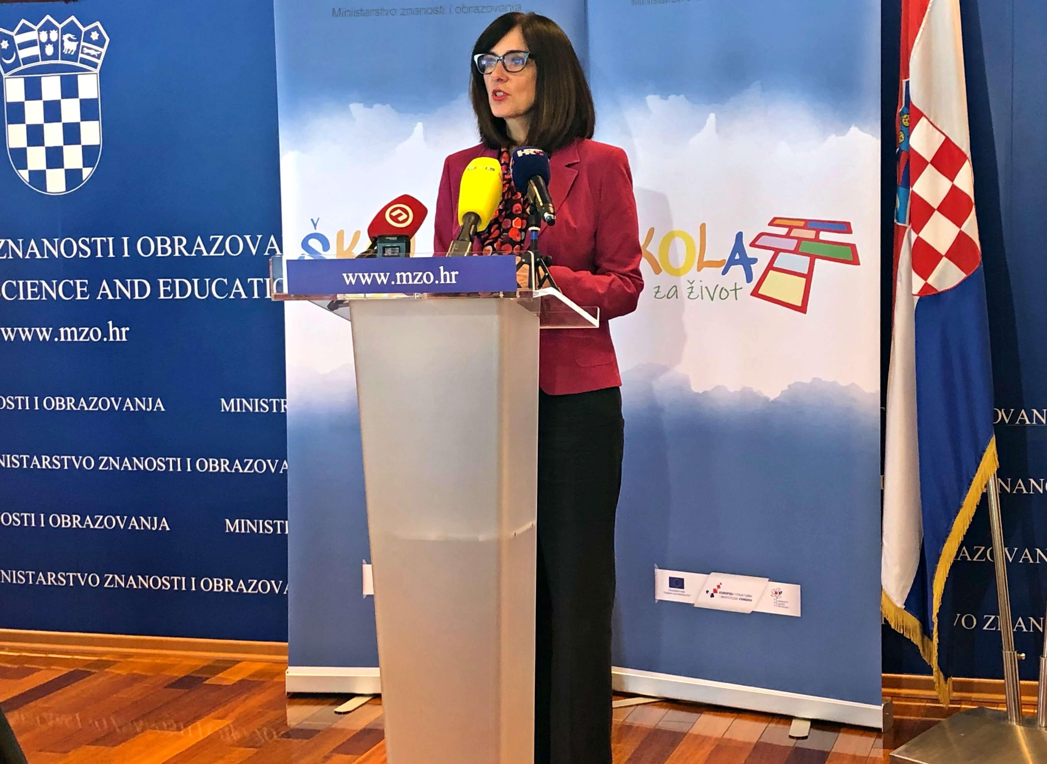 Ministrica obrazovanja Divjak odgovorila biskupu Košiću: Svatko nek se drži svojih nadležnosti
