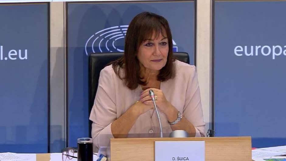 Potpredsjednica Europske komisije Dubravka Šuica, inače profesorica, ne poznaje baš pravopis