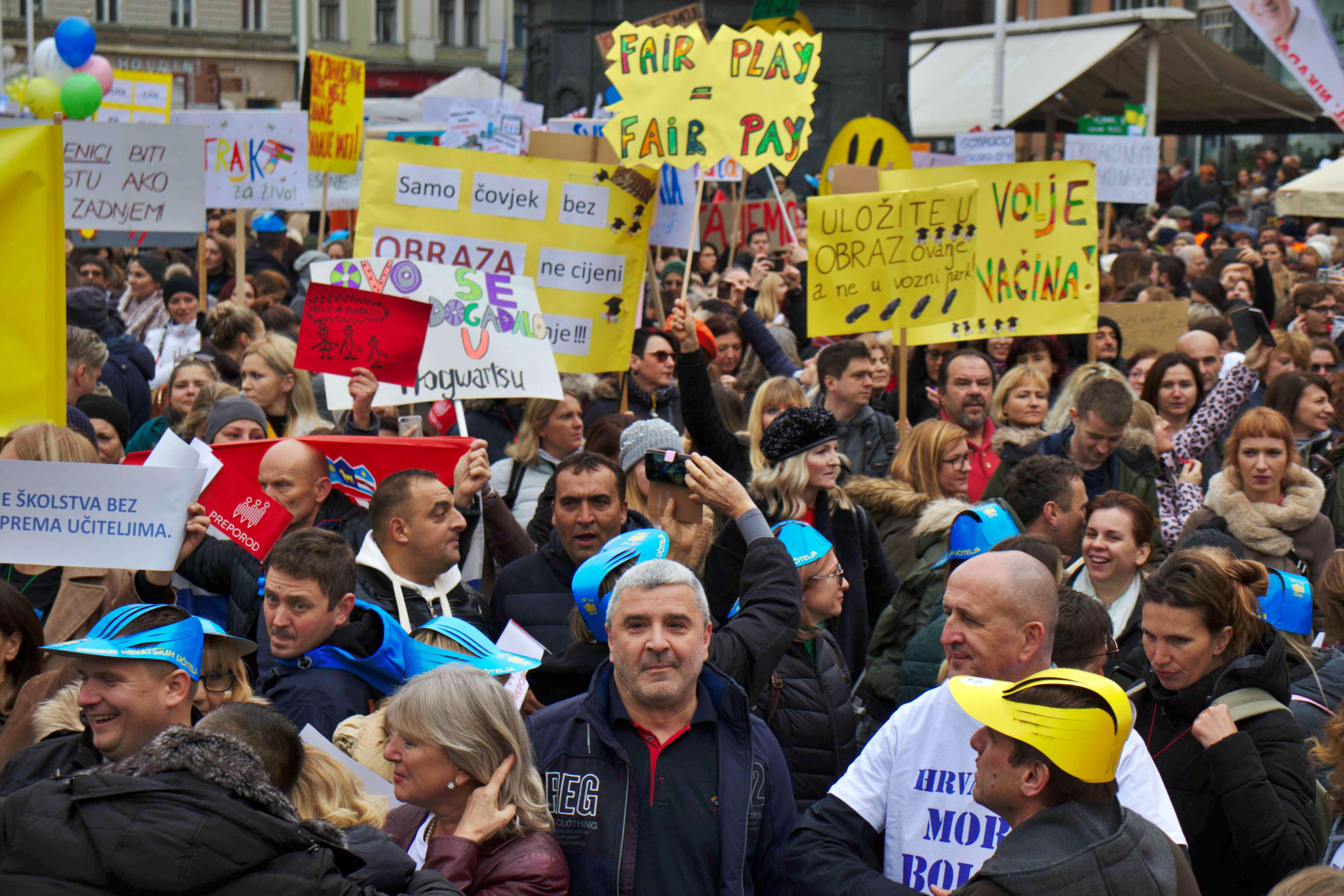Prosvjed je bio politički skup, no od toga ne treba bježati