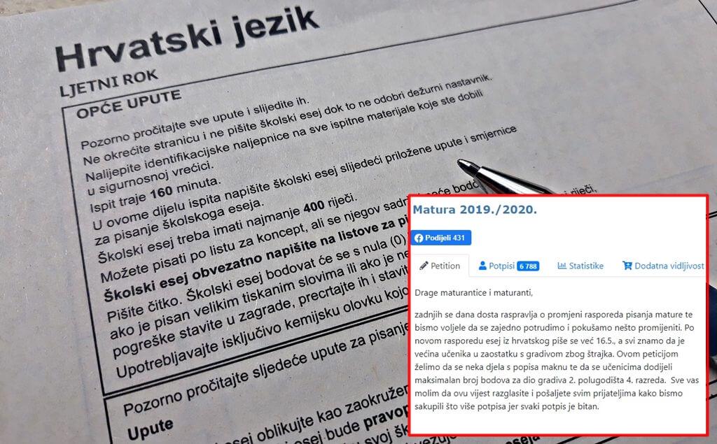 Peticiju za izmjene na maturi potpisalo 6.700 osoba: Zagrebački gimnazijalci spremaju i novu akciju