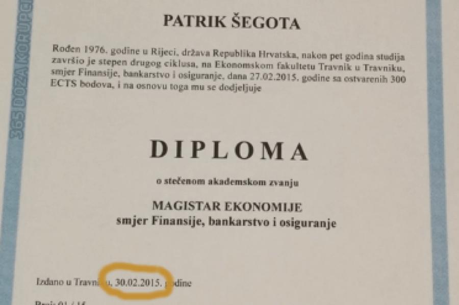 Internetom Kruzi Fotografija Diplome Sefa Zagrebackih Gradskih Groblja Izdana 30 Veljace Pitali Smo Fakultet Je Li Istinita
