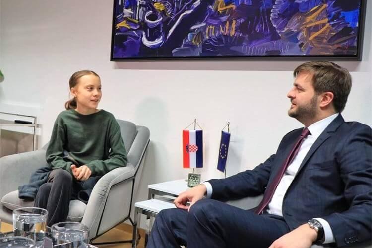 Nakon što je političare optužila da glume da se bore za klimu, hrvatski ministar sastao se s Gretom