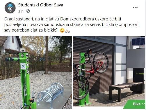 Novost u najvećem zagrebačkom studentskom domu: Samouslužna stanica za servis bicikla