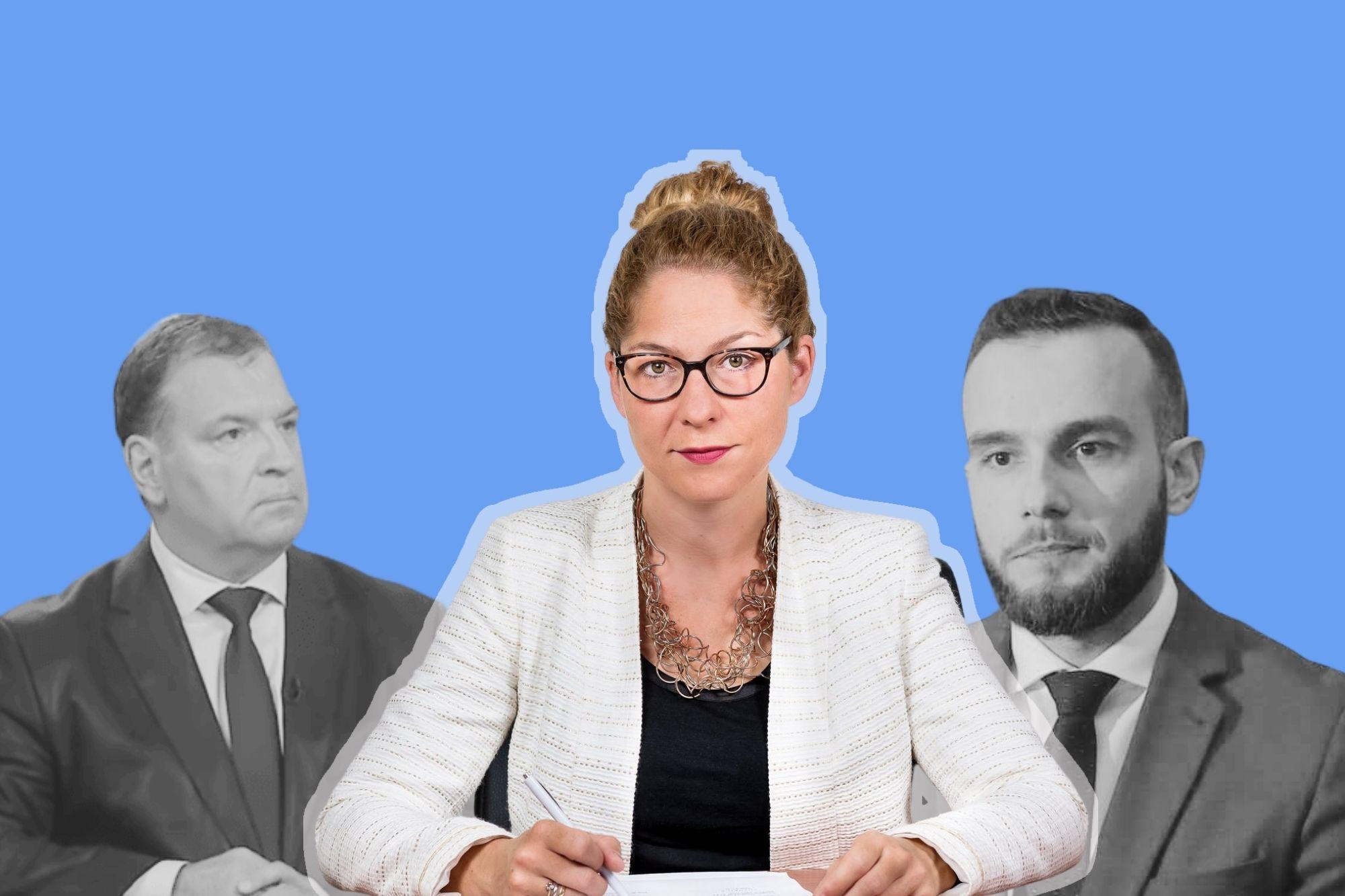 Pravobraniteljica Tena Šimonović Einwalter (u sredini), ministar zdravstva Vili Beroš (lijevo), ministar rada Josip Aladrović (desno)