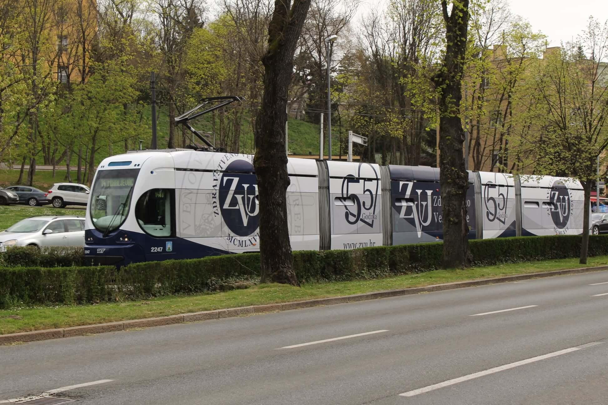 Veleučilište iz Zagreba dobilo 'svoj' tramvaj, dekan studentima: Neka vas krasi patriotizam i optimizam