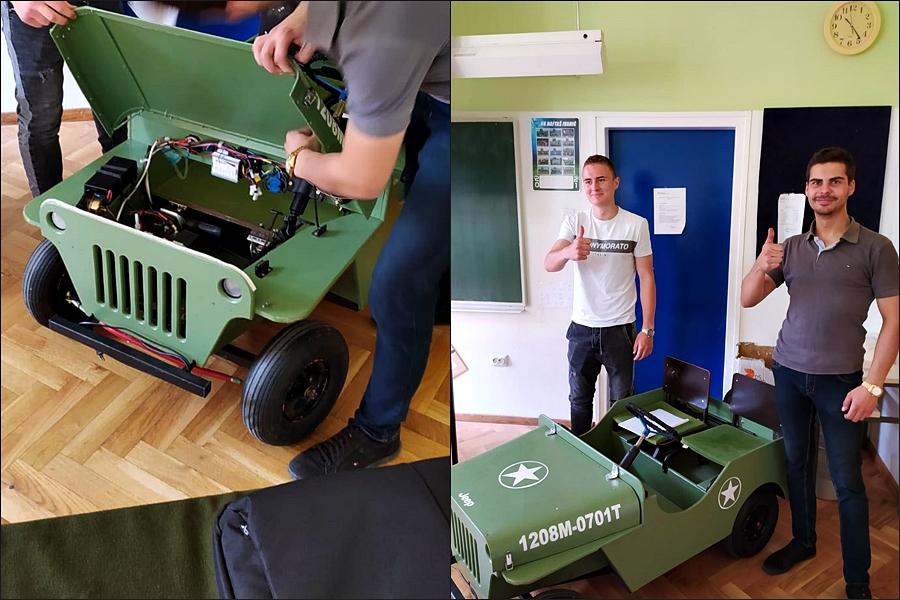 Za završni rad napravili električno vozilo: 'Svima je bilo zabavno gledati kako se autićem vozimo po školi'
