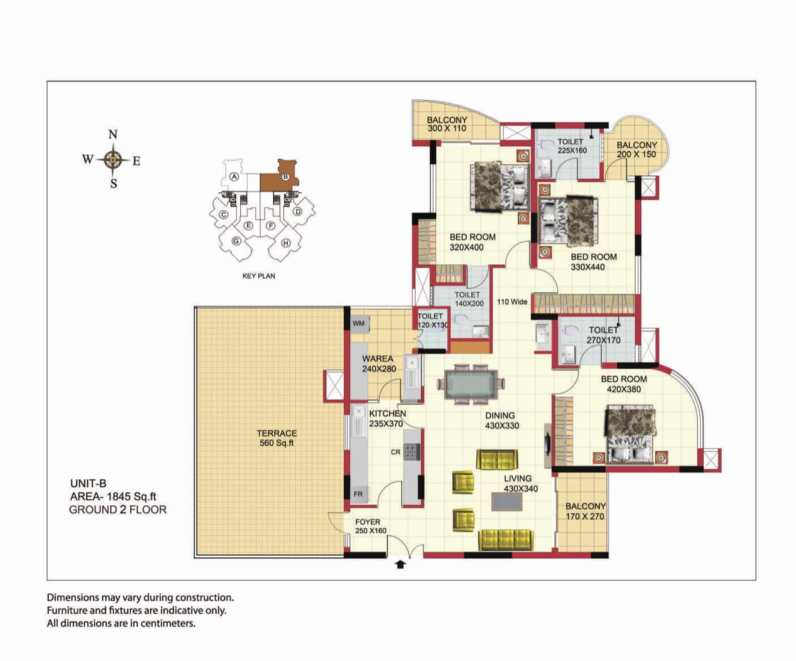 Sree Dhanya Homes - Type B with Terrace - Apartments in Trivandrum