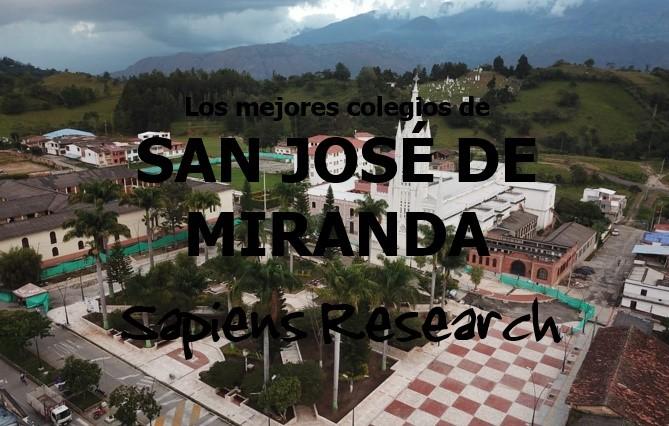 Ranking de los mejores colegios de San José de Miranda 2019-2020
